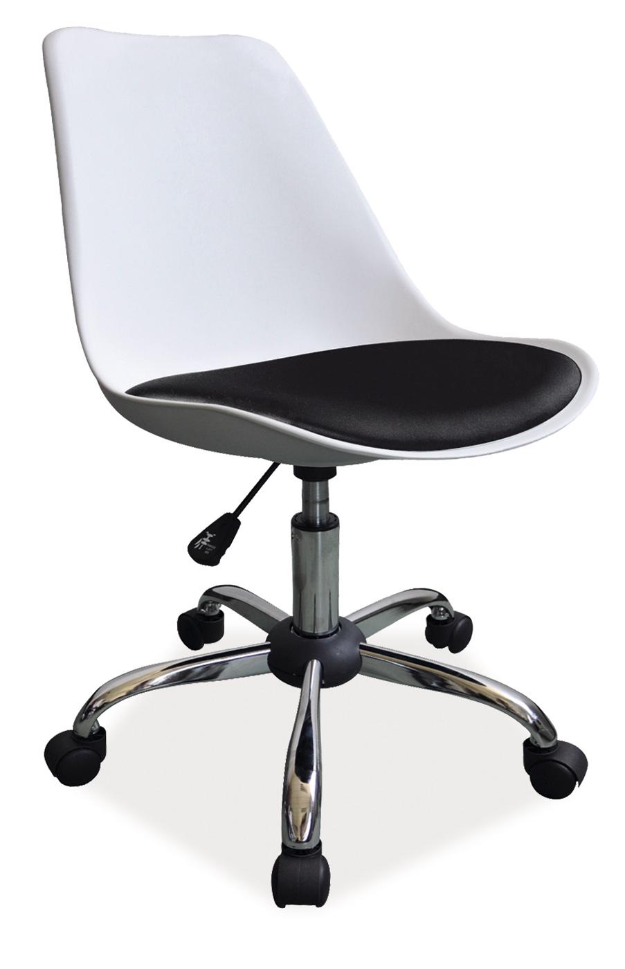 Signal Kancelárska stolička Q-777 Farba: Biela / čierna