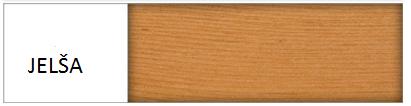 Drewmax Manželská posteľ - masív LK117 / 180 cm borovica Farba: Jelša