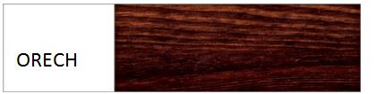 Drewmax Manželská posteľ - masív LK117 / 180 cm borovica Farba: Orech