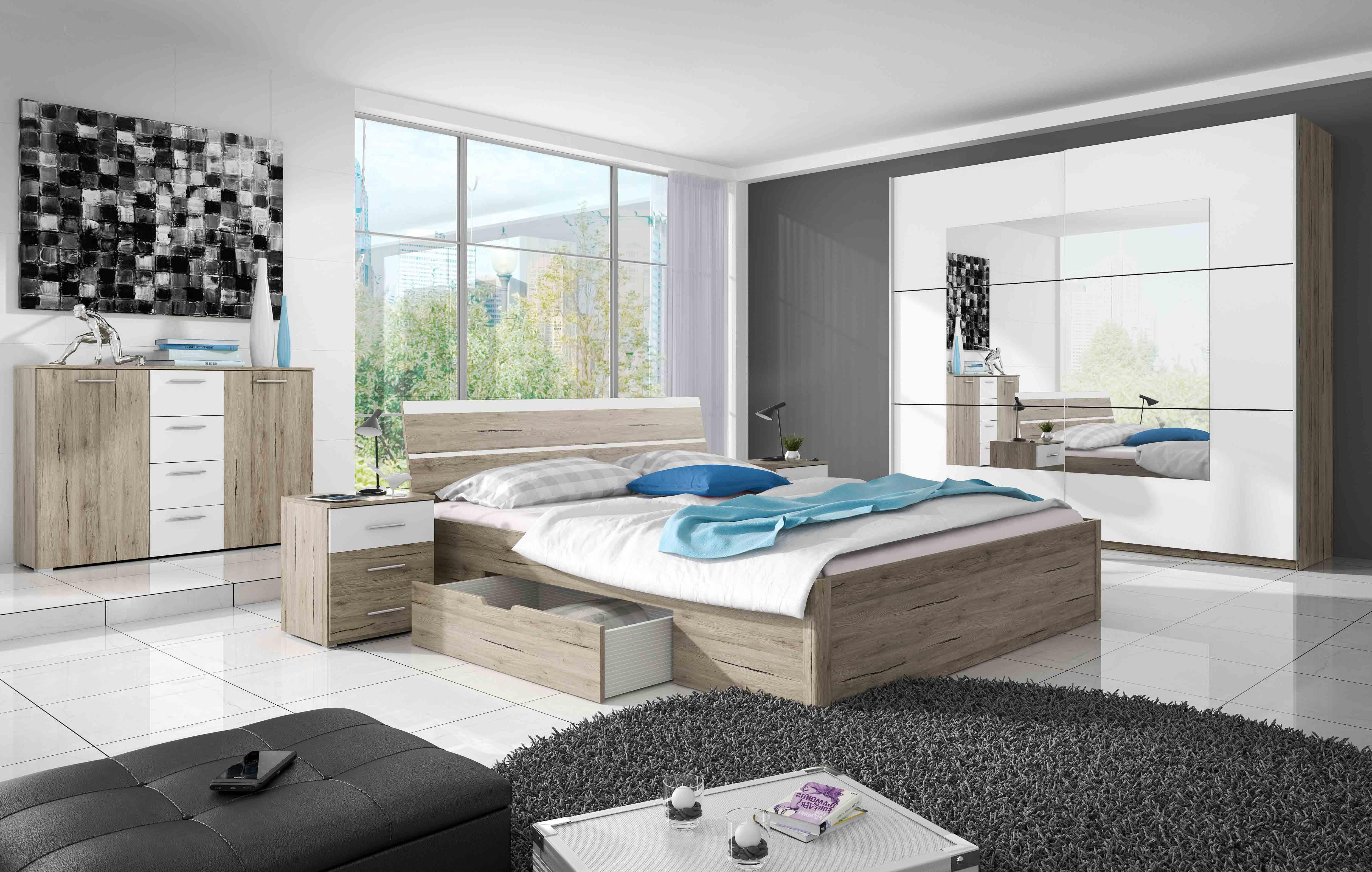 ArtElb Spálňa DELTA / BETA | san remo Beta: Spálňova zostava Beta / posteľ 180 x 200