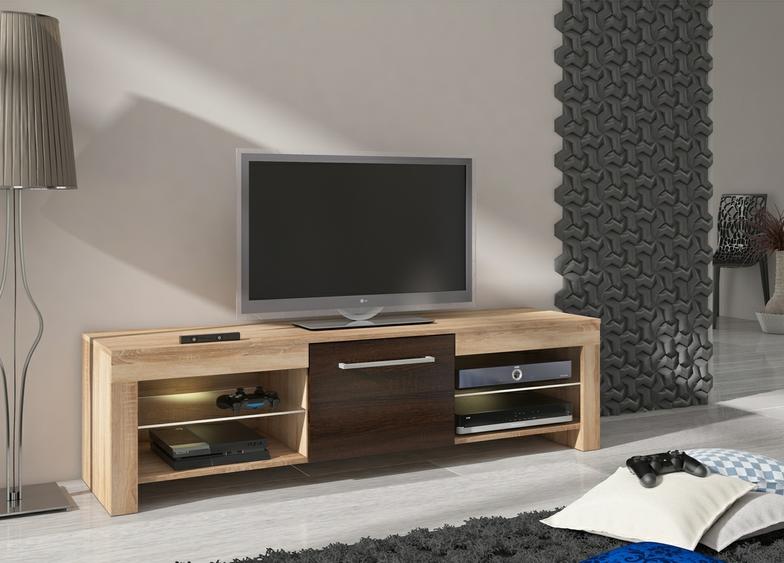 WIP Tv stolík flex Farba: Dub sonoma tmavá / dub sonoma svetlá