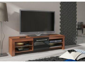 WIP TV STOLÍK FLEX Farba: slivka/čierny lesk