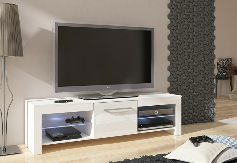 WIP TV STOLÍK FLEX Farba: biely lesk / biela