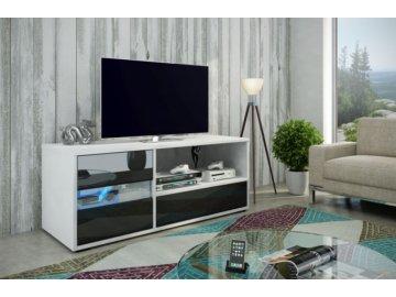 WIP Tv stolík Global Farba: biela/čierny lesk