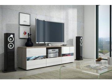 WIP Tv stolík Global 2 Farba: dub sonoma/biely lesk