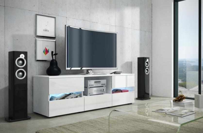 WIP Tv stolík Global 2 Farba: Biela/biely lesk