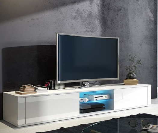 WIP TV stolík Hit biely / biely lesk
