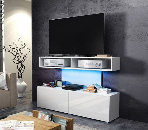 WIP TV STOLÍK REX Farba: biely lesk / biela