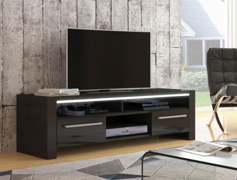 WIP TV STOLÍK ROCKY Farba: čierny lesk / čierna