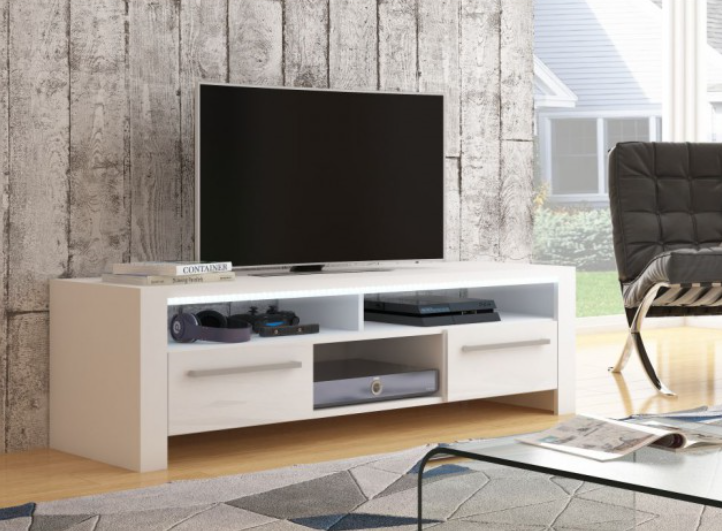 WIP TV STOLÍK ROCKY Farba: biely lesk / biela