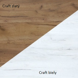 WIP TV STOLÍK ROMA Farba: Craft biely / craft zlatý