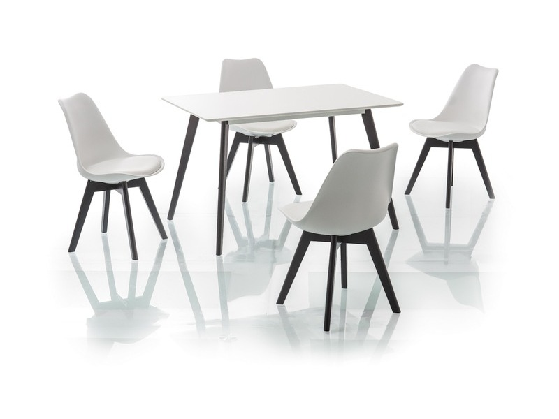 Signal Jedálenský stôl MILAN / 120x80 čierna-biela