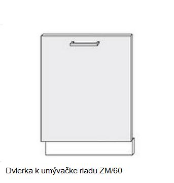 ArtExt Kuchynská linka Quantum Kuchyňa: Dvierka k umývačke riadu ZM/60 / 60 cm