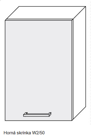 ArtExt Kuchynská linka Quantum Kuchyňa: Horná skrinka W2/50 / (ŠxVxH) 50 x 72 x 30 cm