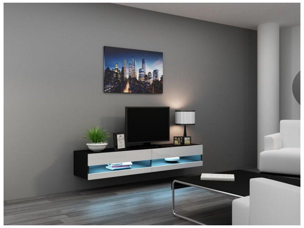 Artcam RTV stolík VIGO NEW Farba: čierna/biely lesk