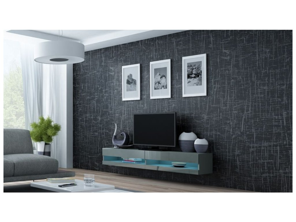 Artcam RTV stolík VIGO NEW Farba: Sivá/sivý lesk