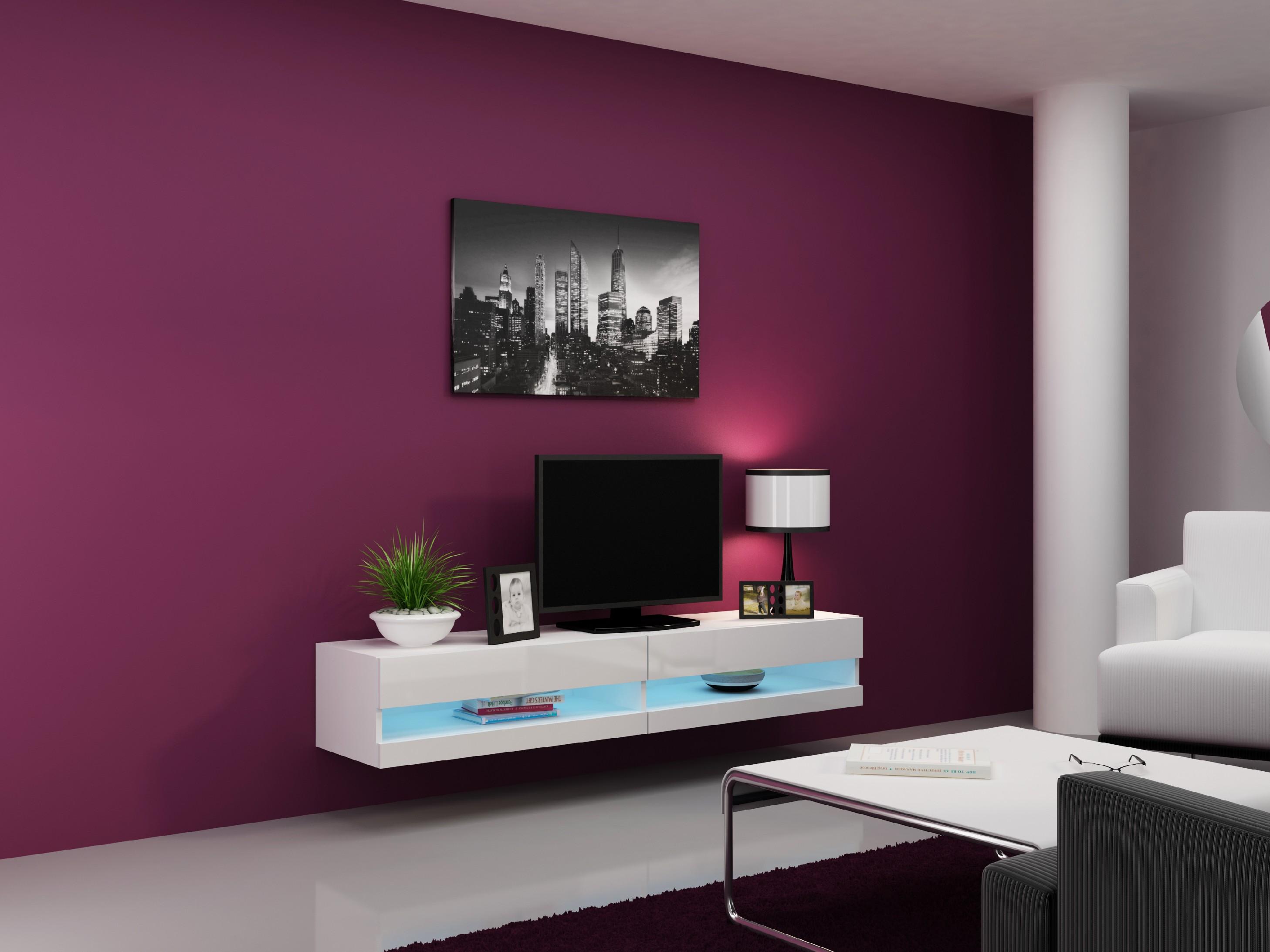Artcam RTV stolík VIGO NEW Farba: Biela/biely lesk