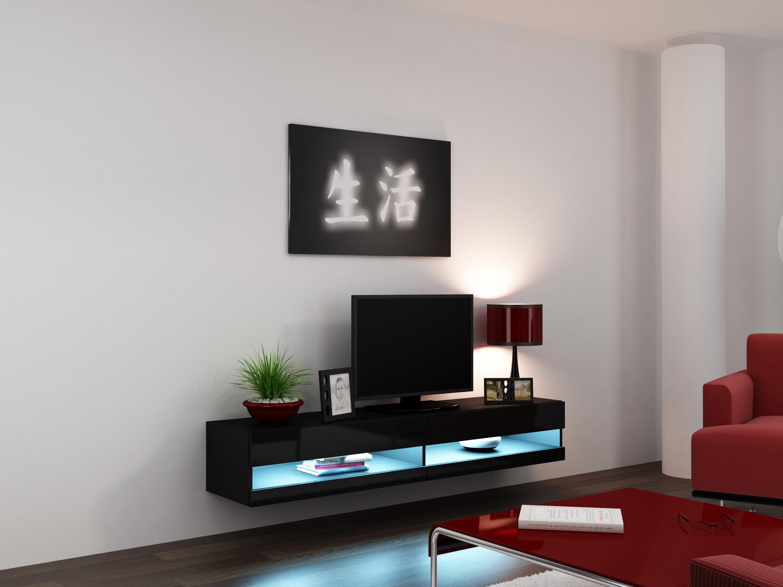 Artcam RTV stolík VIGO NEW čierny/čierny lesk