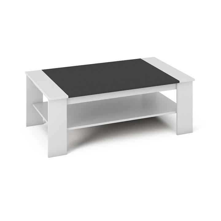 Tempo Kondela Konferenčný stolík BAKER Farba: biela/čierna