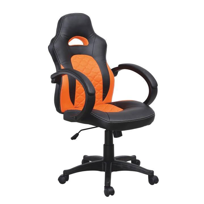 Tempo Kondela Kancelárske kreslo NELSON Farba: čierna/oranžová