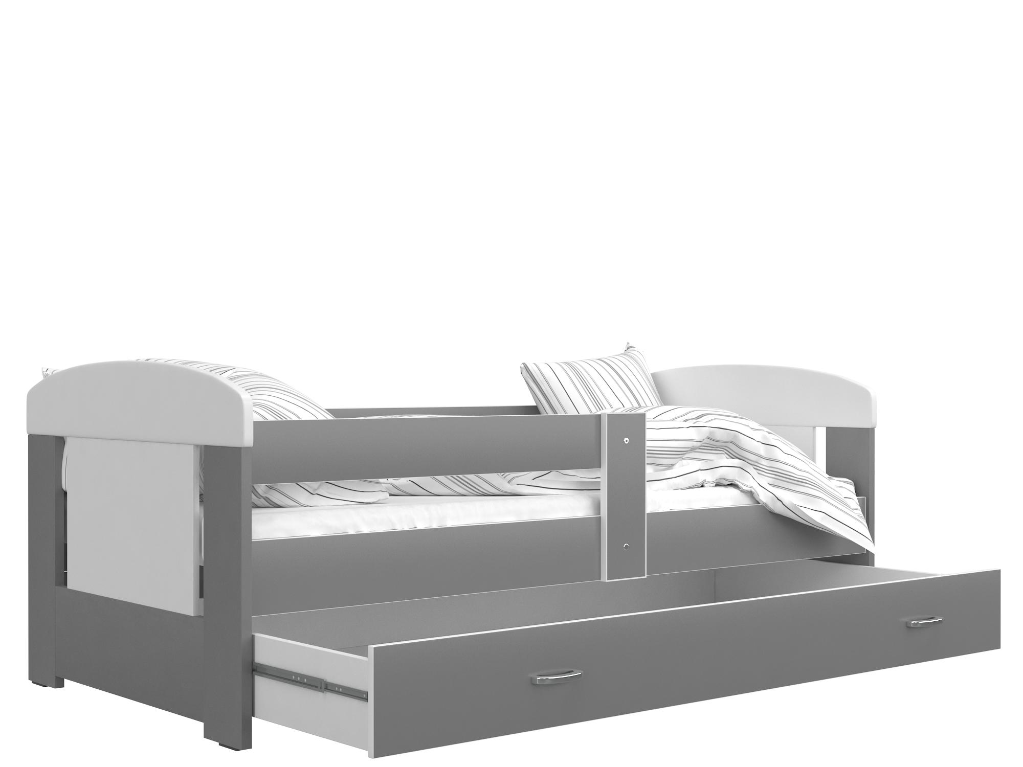 ArtAJ Detská posteľ FILIP COLOR / 160 x 80 cm Farba: biela / sivá