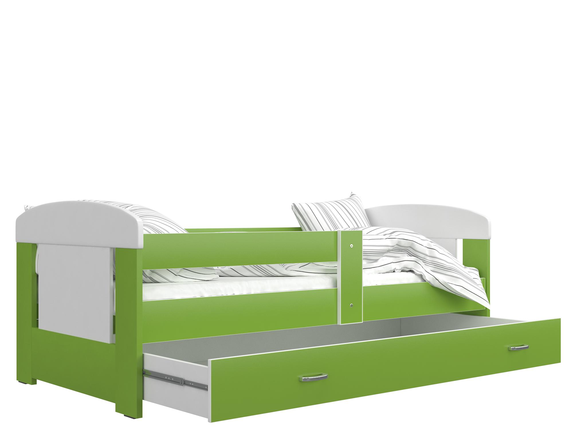 ArtAJ Detská posteľ FILIP COLOR / 160 x 80 cm Farba: biela / zelená