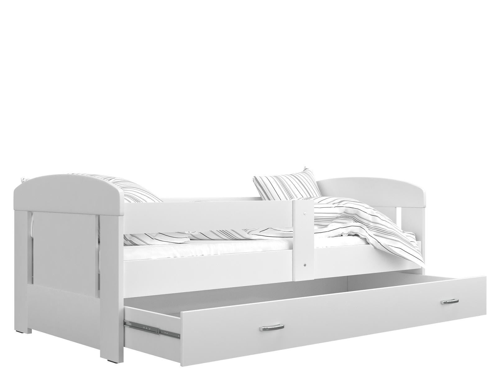 ArtAJ Detská posteľ FILIP COLOR / 160 x 80 cm Farba: Biela / biela