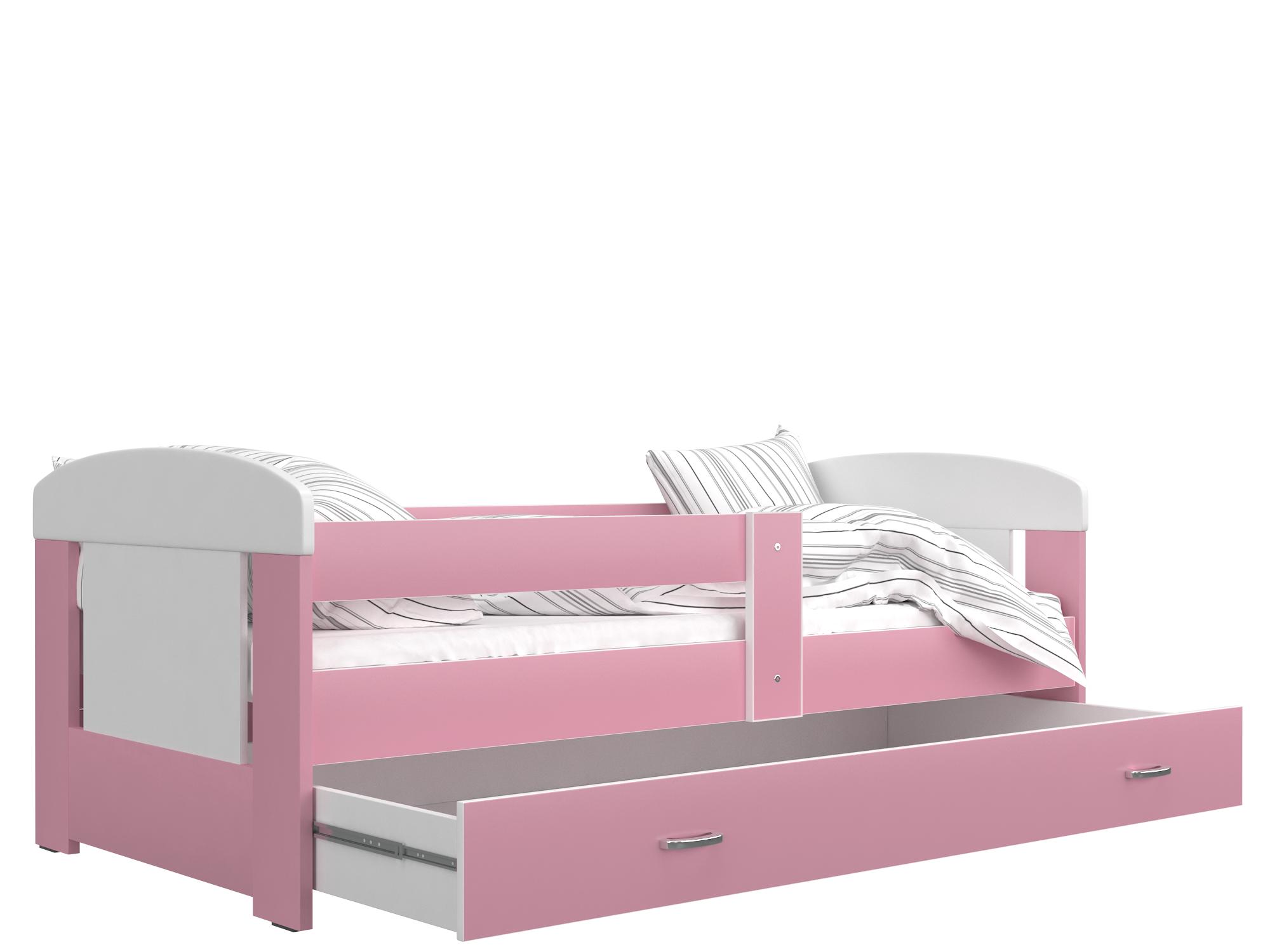 ArtAJ DETSKÁ POSTEĽ FILIP COLOR bez úložného priestoru Farba: biela / ružová