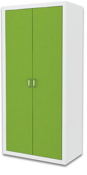 ArtAJ Detská skriňa FILIP / COLOR Farba: biela / zelená