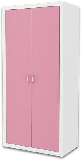 ArtAJ Detská skriňa FILIP / COLOR Farba: biela / ružová