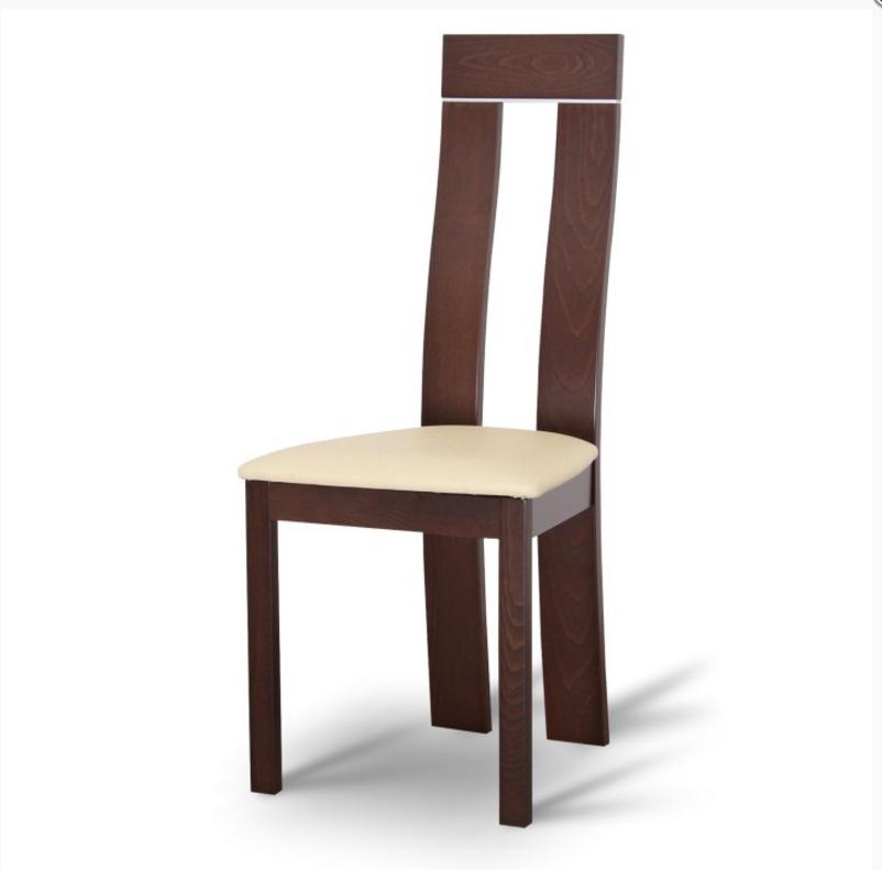 Tempo Kondela Jedálenská stolička DESI Farba: Orech / ekokoža béžová