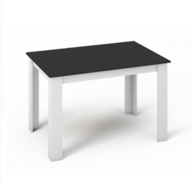 Tempo Kondela Jedálenský stôl Kraz 120 Farba: Biela / čierna