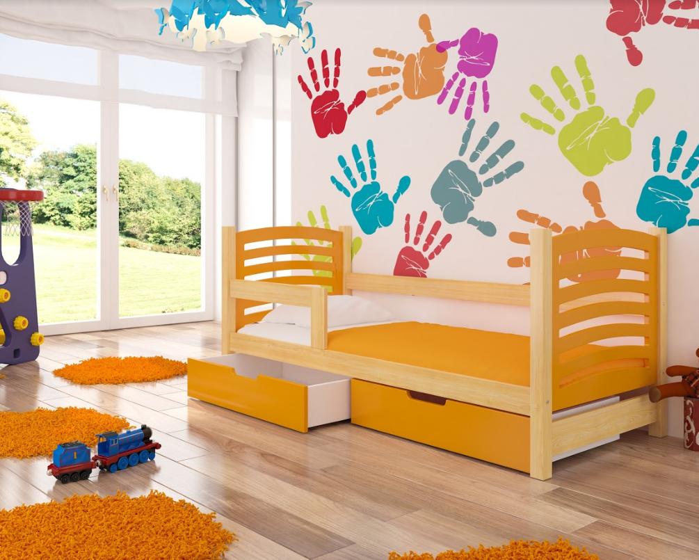 ArtAdr Detská posteľ Camino Farba: borovica / oranžová