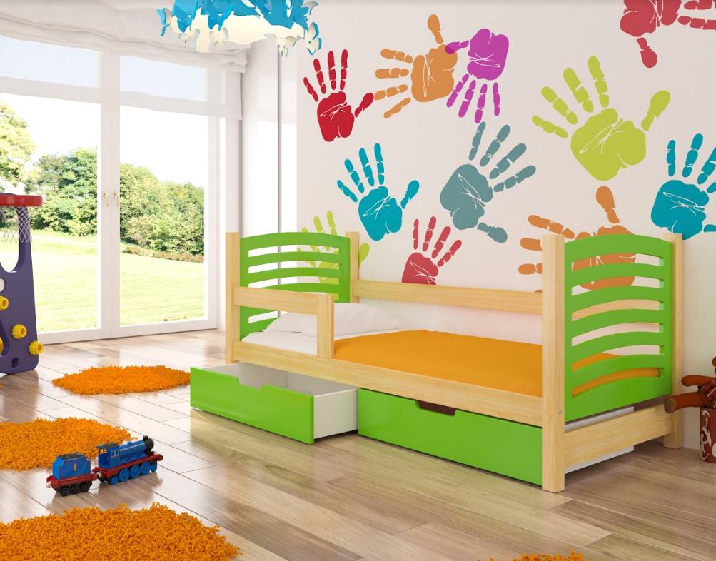 ArtAdr Detská posteľ Camino Farba: Borovica / zelená
