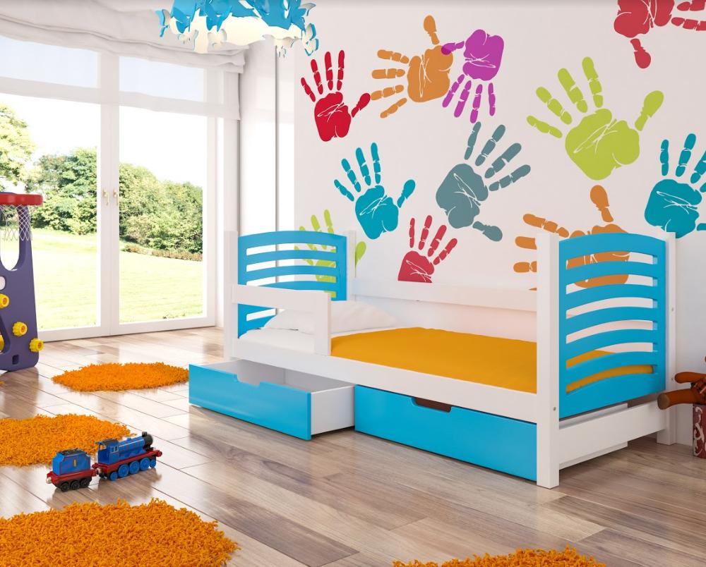 ArtAdr Detská posteľ Camino Farba: biela / modrá