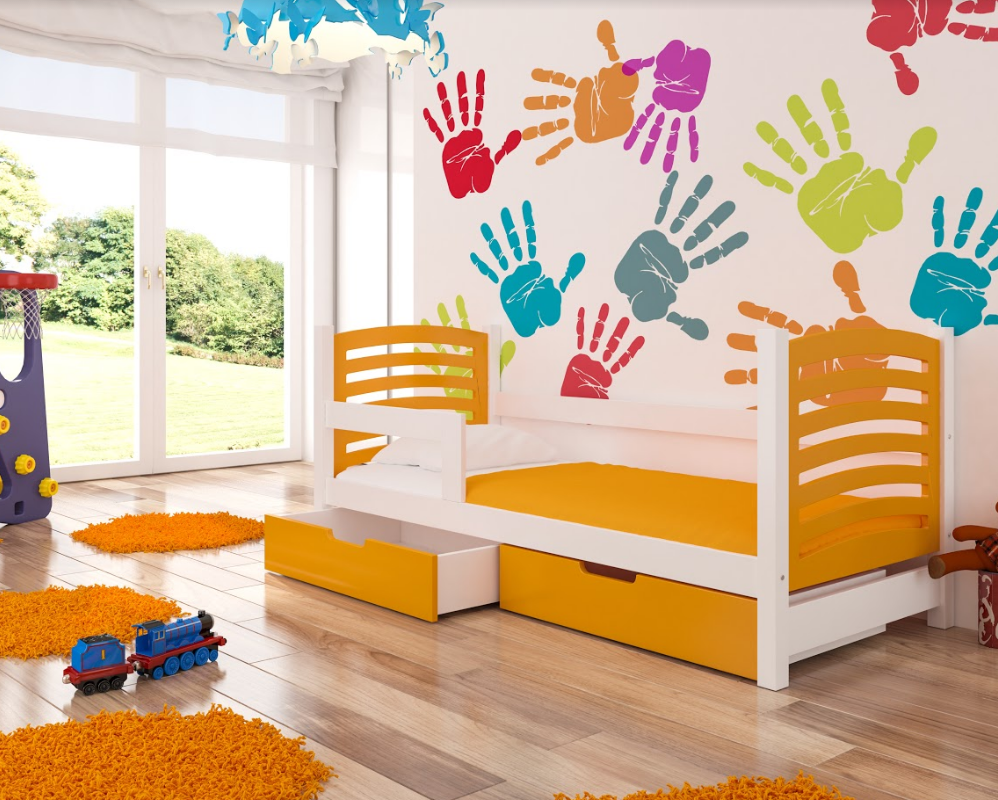 ArtAdr Detská posteľ Camino Farba: Biela / oranžová