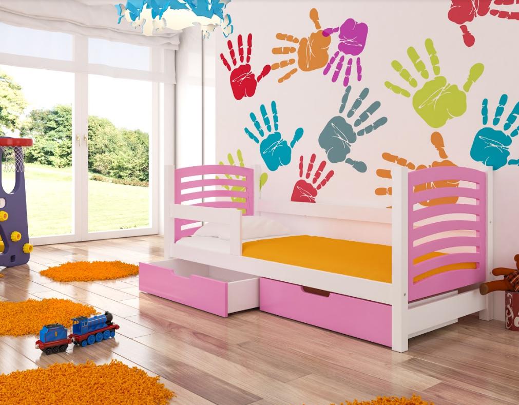 ArtAdr Detská posteľ Camino Farba: biela / ružová