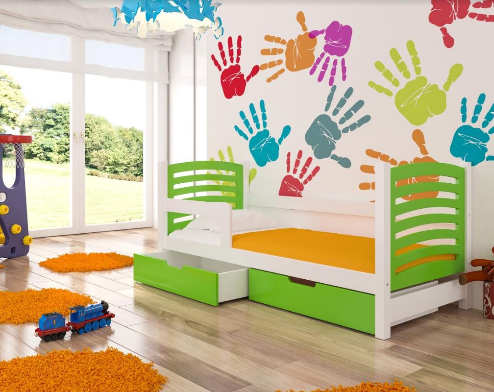 ArtAdr Detská posteľ Camino Farba: biela / zelená