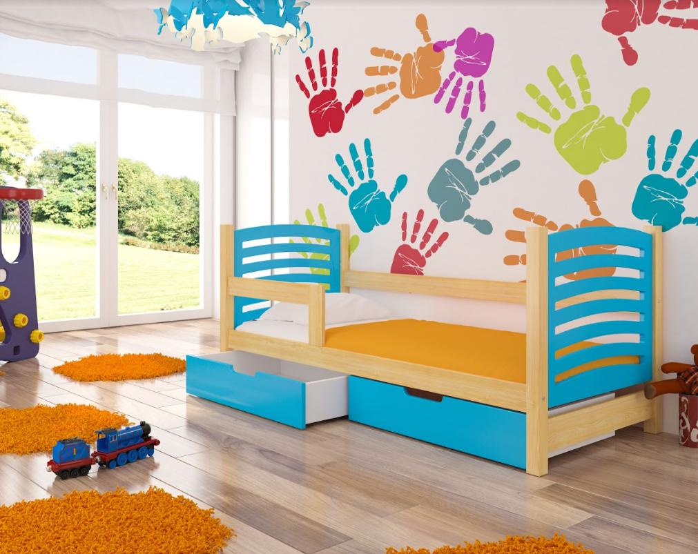 ArtAdr Detská posteľ Camino Farba: Borovica / modrá