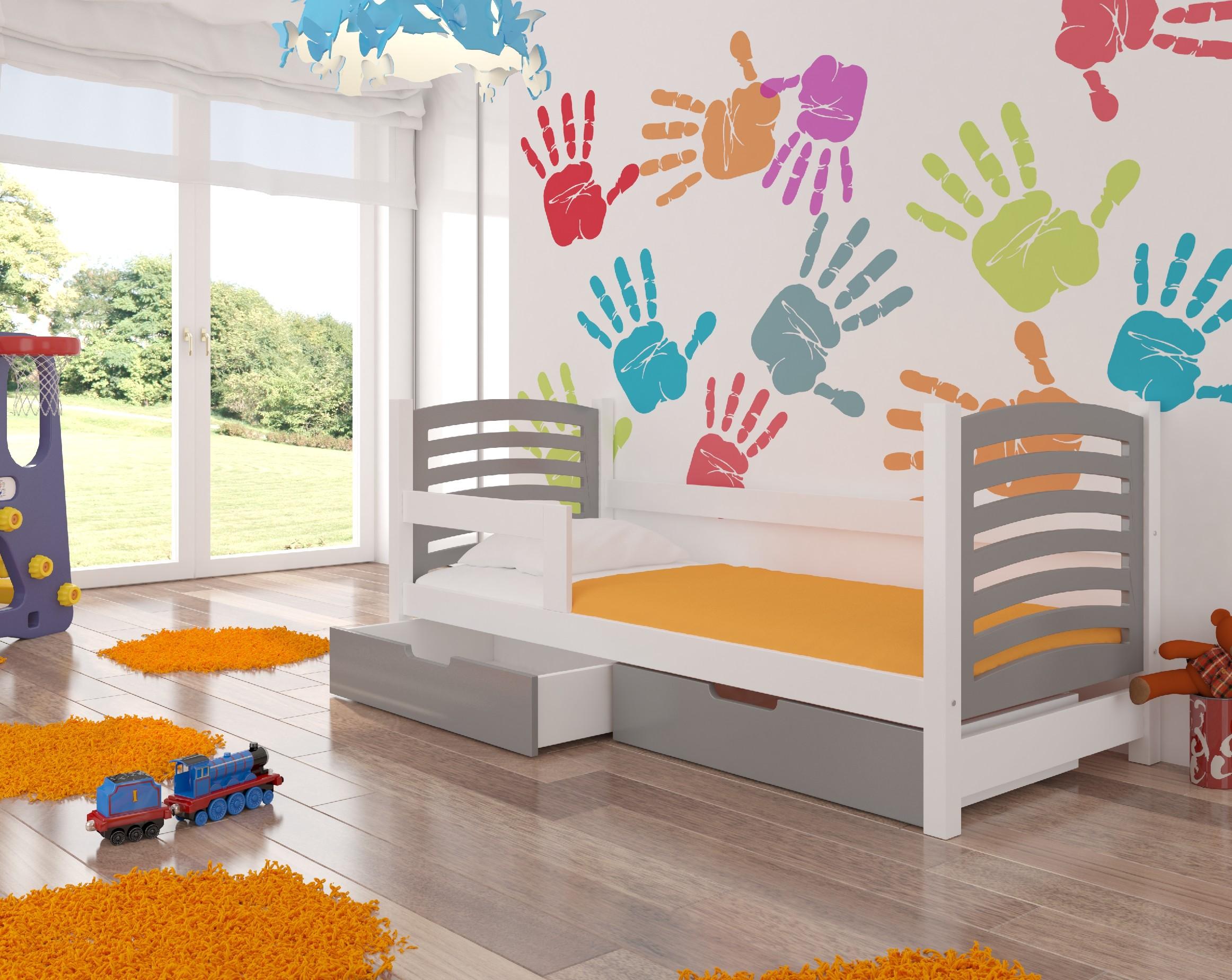 ArtAdr Detská posteľ Camino Farba: biela / sivá