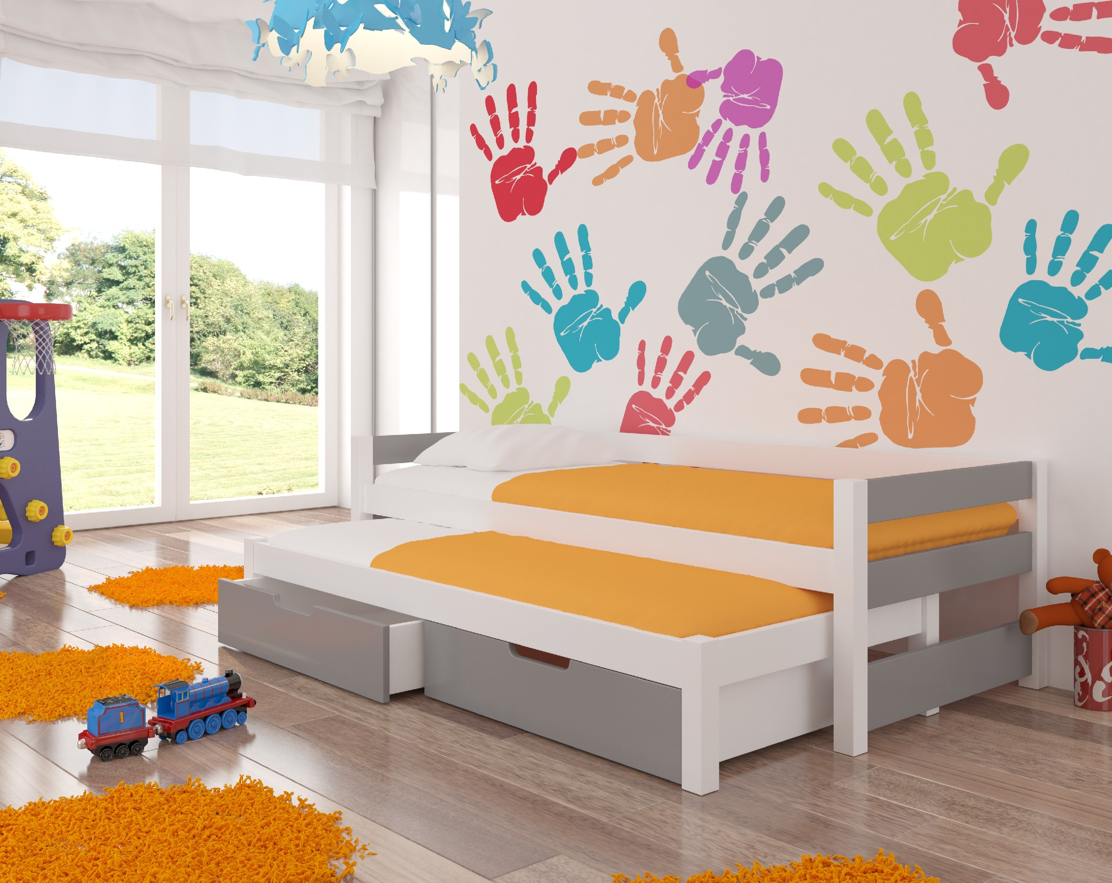 ArtAdr Detská posteľ Fraga Farba: biela / sivá