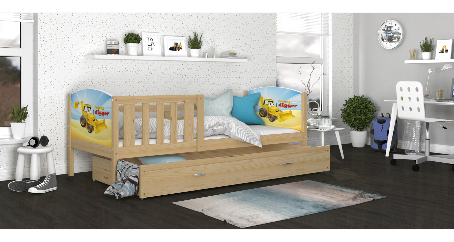 ArtAJ Detská posteľ Tami P / borovica Tami rozmer: 160 x 80 cm, Tami typ: bez matraca