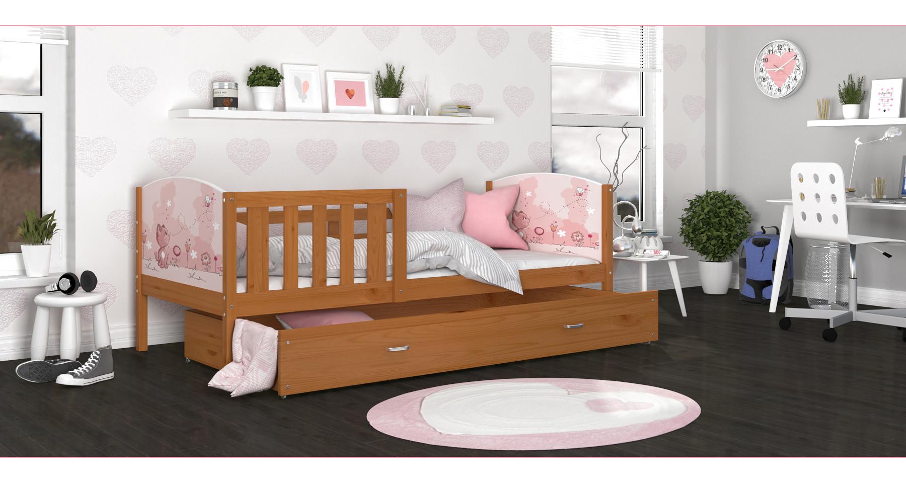 ArtAJ Detská posteľ Tami P / jelša Tami rozmer: 160 x 80 cm, Tami typ: bez matraca
