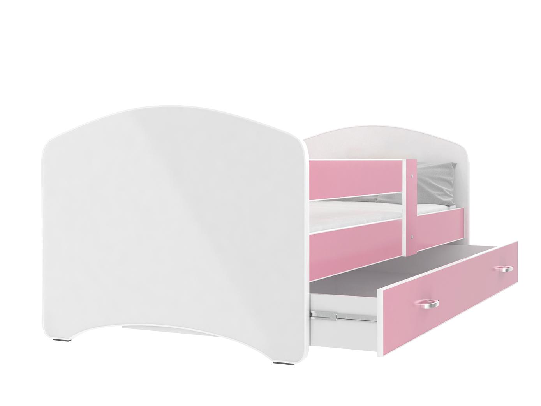 ArtAJ Detská posteľ Lucky 140 x 80 Farba: Ružová, Prevedenie: s matracom, Rozmer.: 140 x 80 cm