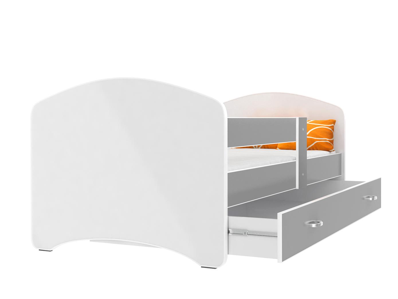 ArtAJ Detská posteľ Lucky 140 x 80 Farba: Sivá, Prevedenie: s matracom, Rozmer.: 140 x 80 cm