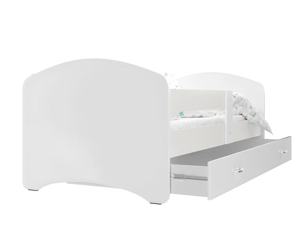 ArtAJ Detská posteľ Lucky 140 x 80 Farba: Biela, Prevedenie: s matracom, Rozmer.: 140 x 80 cm