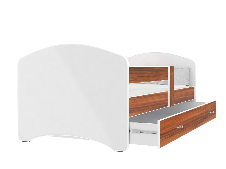 ArtAJ Detská posteľ Lucky 140 x 80 Farba: Havana, Prevedenie: s matracom, Rozmer.: 140 x 80 cm