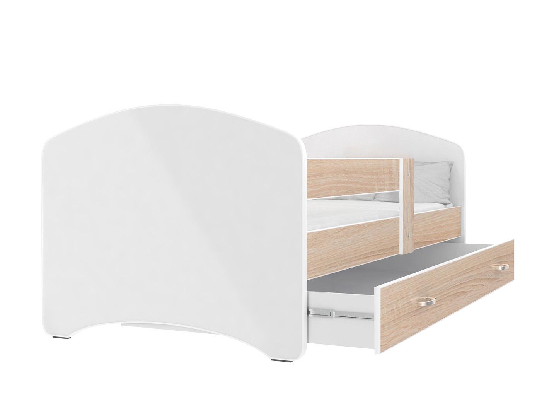 ArtAJ Detská posteľ Lucky 160 x 80 Farba: dub sonoma, Prevedenie: bez matraca, Rozmer, materiál: 160 x 80 cm