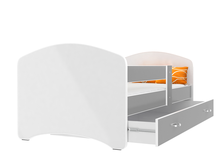 ArtAJ Detská posteľ Lucky 160 x 80 Farba: Sivá, Prevedenie: bez matraca, Rozmer, materiál: 160 x 80 cm
