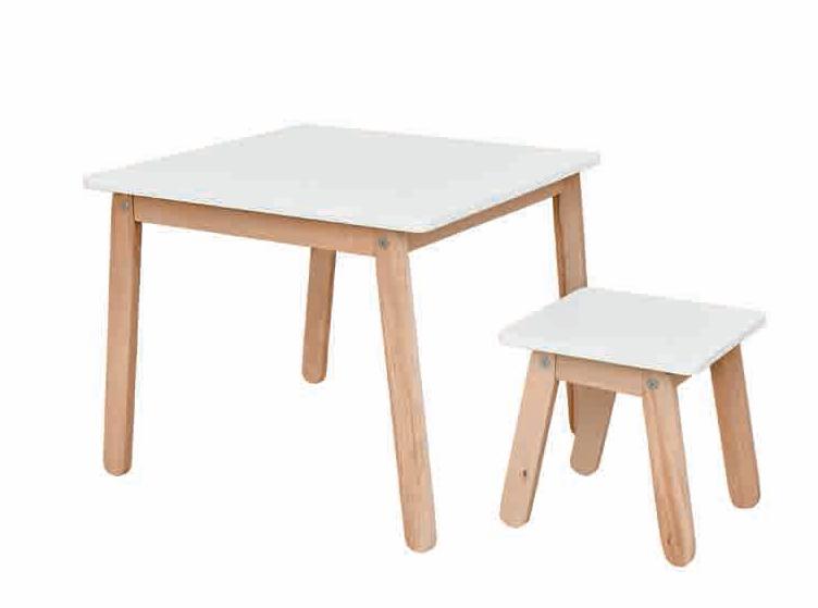 1b96dfd93f23 ArtBel Detský set stôl   stolička WOODY Farba  Biela